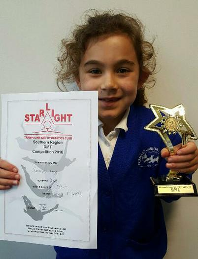 Jazmine(Y3) DMT Trampoline Competition. 2nd Place!
