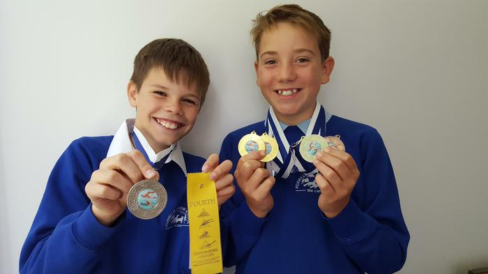 Tom+Finn - Swimming medals - 1st 1st 2nd 3rd 4th!