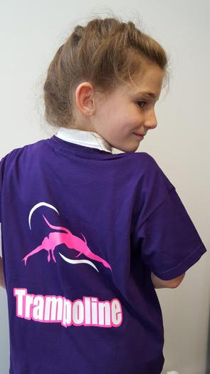 Darcy and her competition T-shirt!
