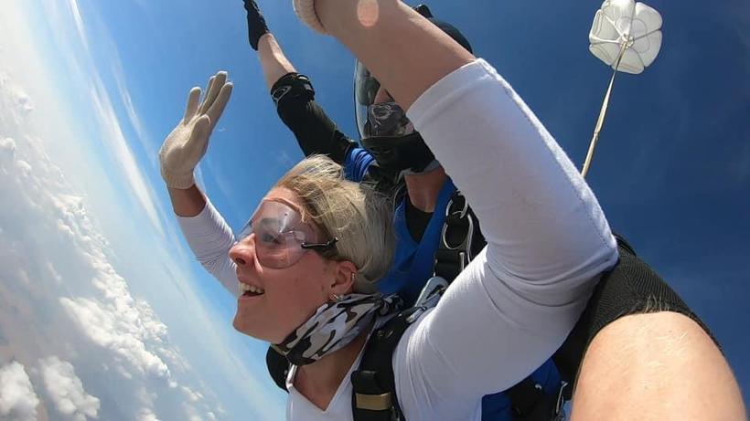 Skydiving, with Miss Van Hoof!
