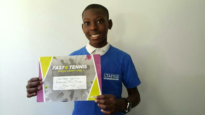 Christopher (6HS)Portsmouth Fast tennis; 1st!