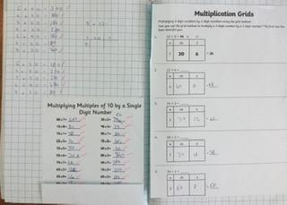 Finn has been practising his maths