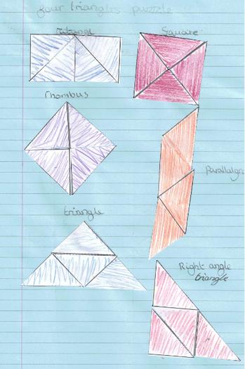 Natasha solved the triangle problem