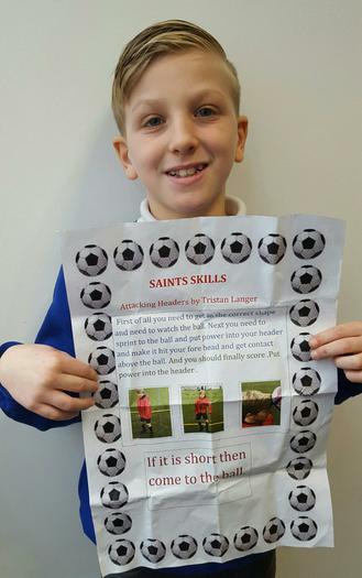 Tristan-Saint Soccer skills presentation!