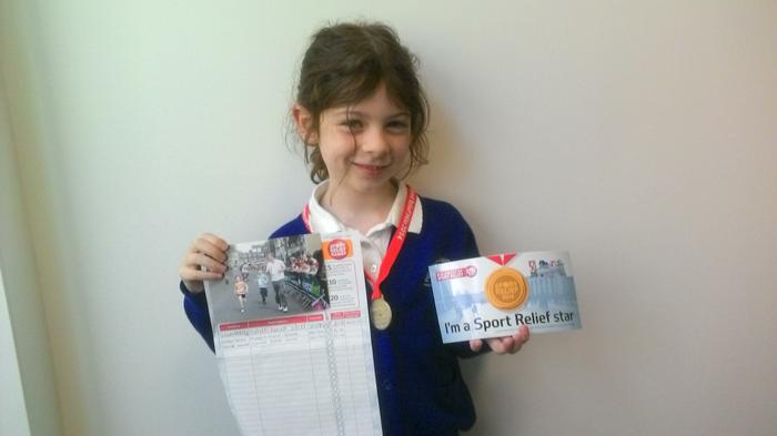 Alissa (3LH)- Sports Relief: ran 2 miles! AMAZING!