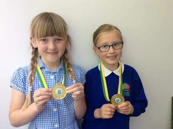 Katie and Lottie - Pace football final... winners!