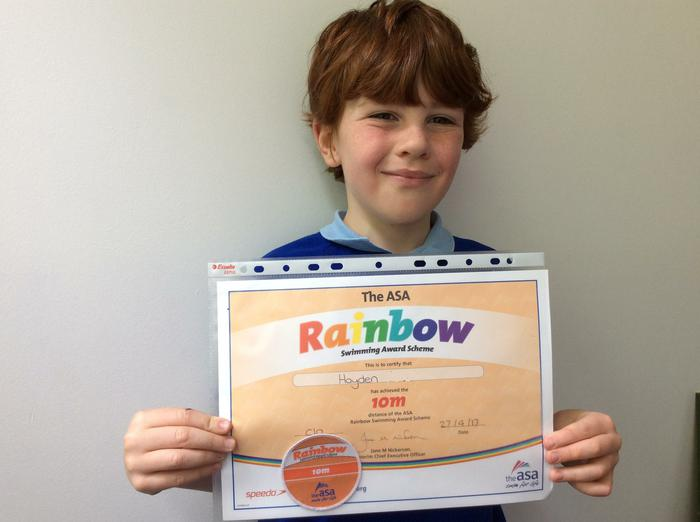Hayden - Swim Award. 100m!