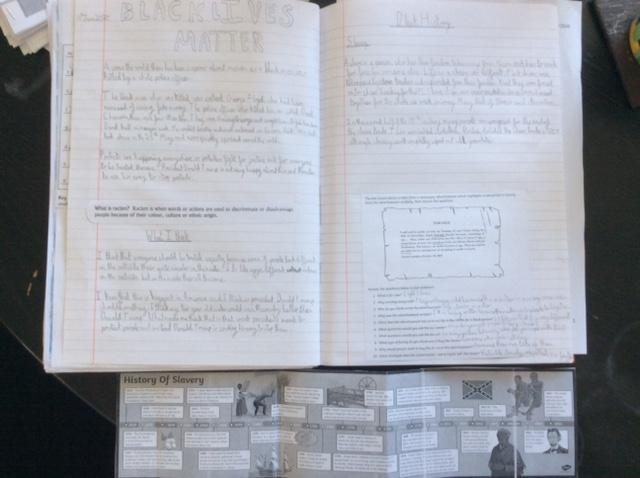 Lizzie's civil rights & slavery history learning 4
