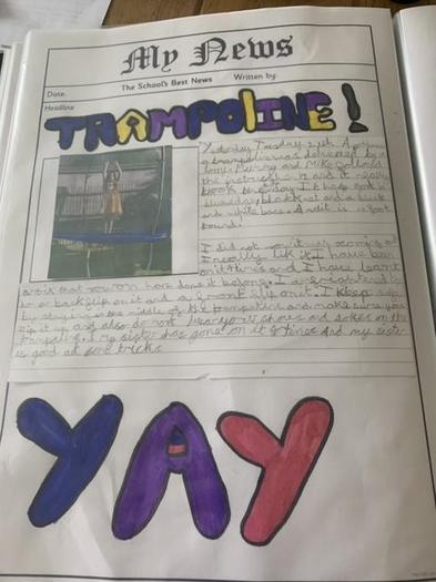 Mia's new trampoline report
