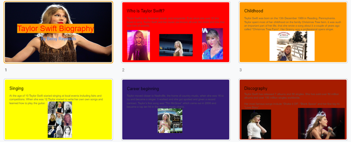 Betsy wrote a biography about Taylor Swift