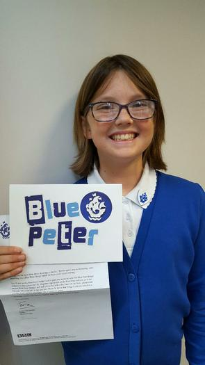 Honor - awarded the Blue Peter Badge!