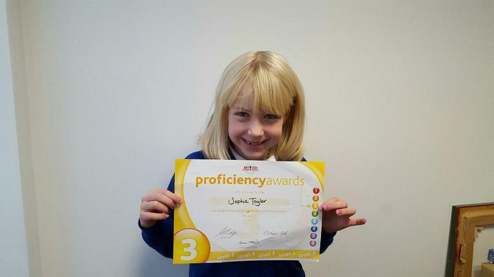 Sophie - L3 Gymnastics award!