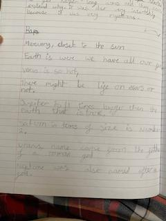 Izzy wrote a rap about our solar system!