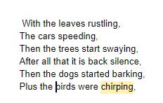 Ollie's sound poem