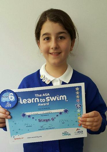 Chloe - Achieved Level 6 Swimming Award!