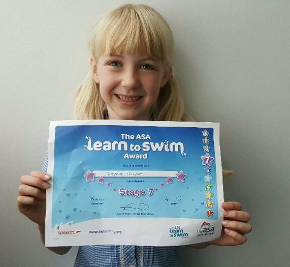 Sophie - Level 7 Swimming Award!