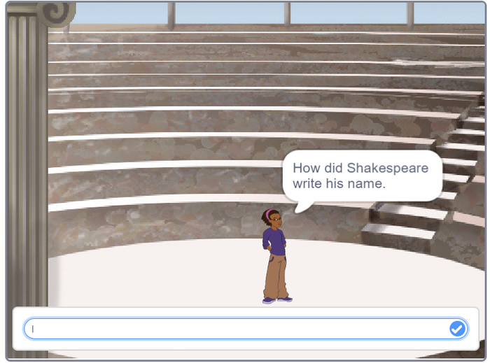 A Shakespeare quiz made on Scratch by Zack