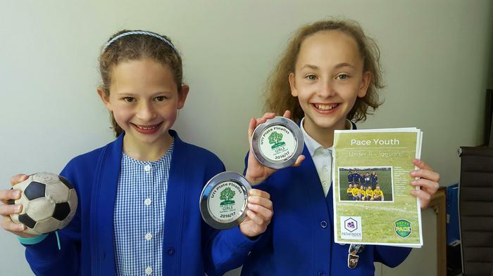 Eliza & Jessica - Pace Football Final: runners up!