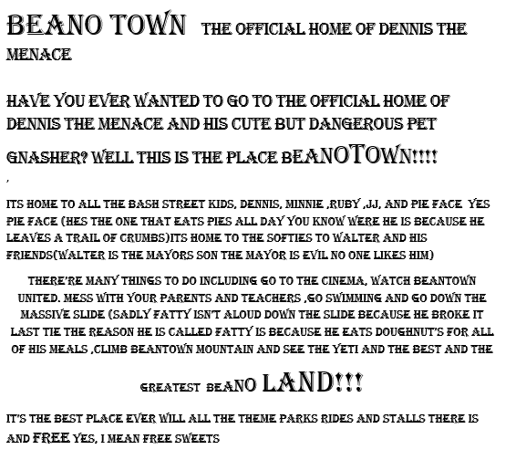 Beano Town by Ollie