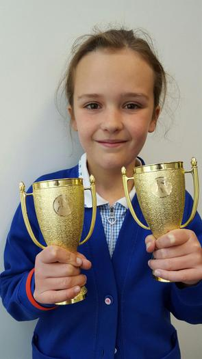 Chloe Karate competition 2nd  and 3rd!
