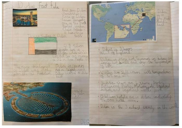 Sophie S's Fact File about Dubai