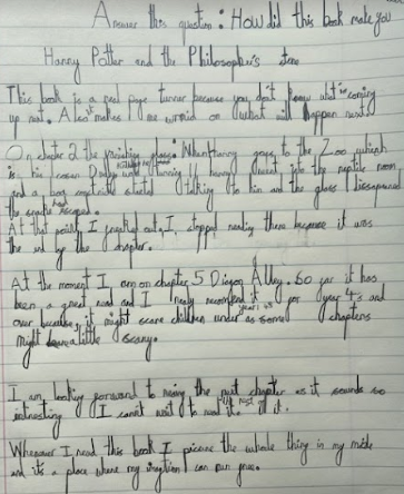 Betsy's writing about Harry Potter