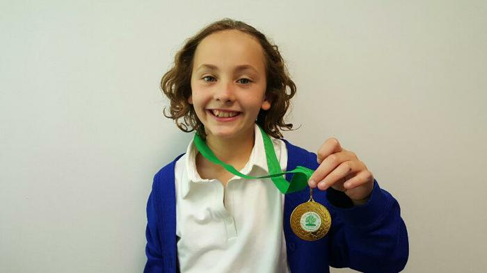 Jessica (4MG) - New Forest girls football medal!