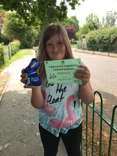 Ruby's prize for the writing competition!