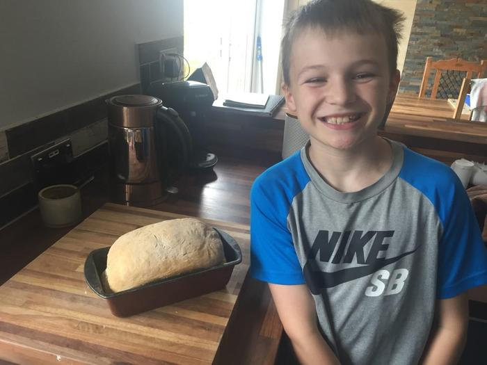 Ewan has been busy baking bread