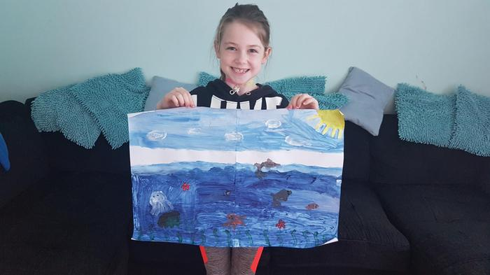 Chloe's ocean painting