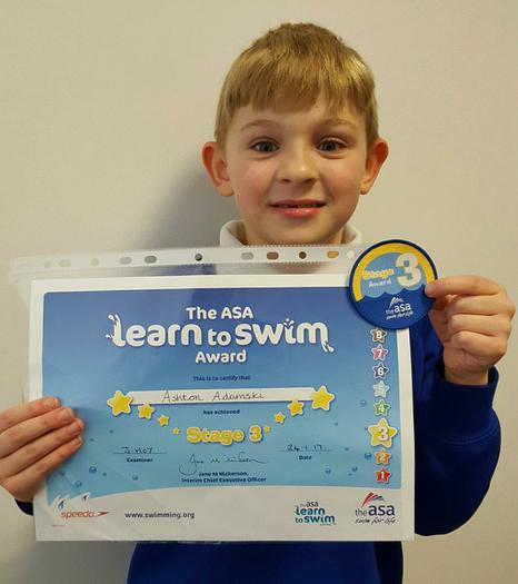 Ashton: Stage 4 swimming award!