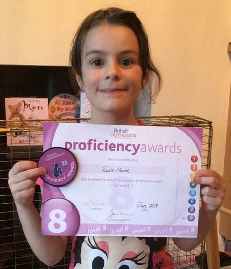 Rosie (Mr Shore's niece): Gymnastics Level 8!
