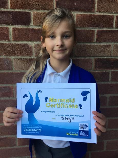 Mermaid (advanced) swimming award