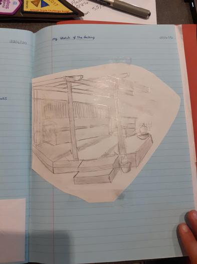 A sketch of a decking by Josh