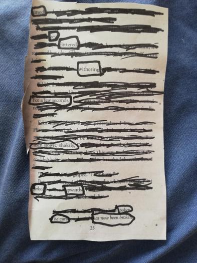 James' blackout poem 1