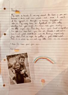 Lincoln's penpal letter!