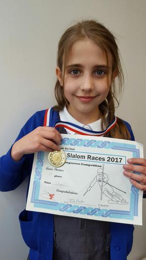 Anna: Dual Slalom Race 2017 - 1st!