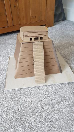 A pyramid made from Cardboard by Toby