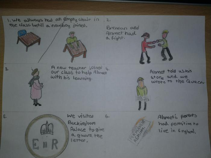 Emil's cartoon - The Boy at the Back of the Class