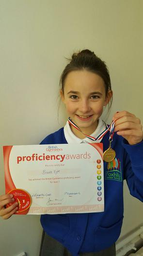 BROOKE - Level 1 gymnastics award!