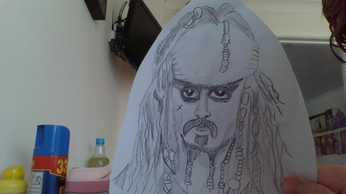 A sketch of Captain Jack Sparrow by Jack R