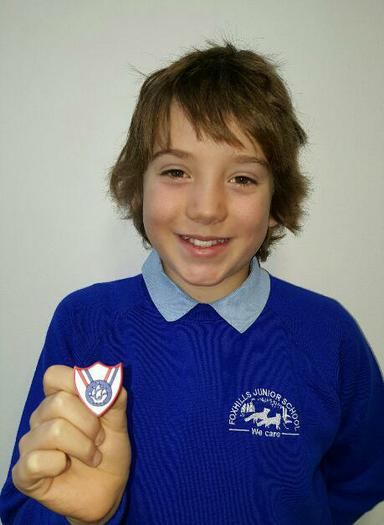 Finlay(5SB) Blue Peter Sports badge!