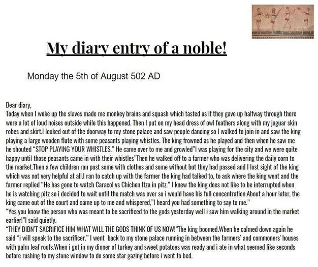 Kim wrote the diary of a nobleman