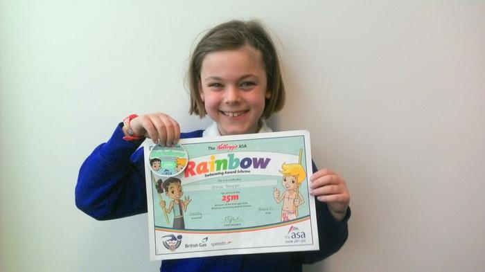 Jessica (4JS) - Swimming 25m! Well done!
