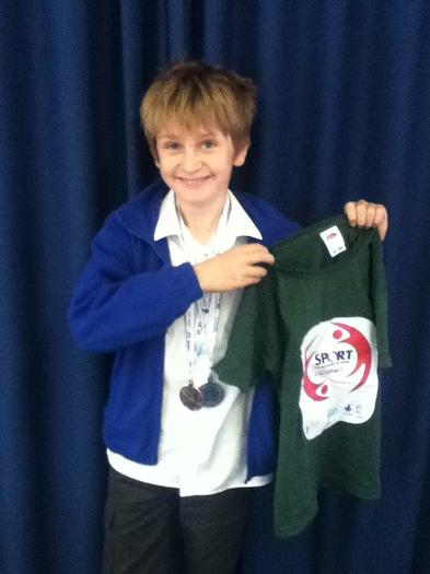 Joseph (4MG) 2nd in Hampshire Youth Games!