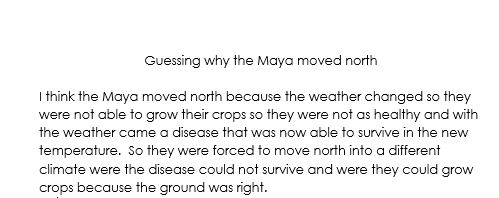Jorja's thoughts on what happened to the Maya.