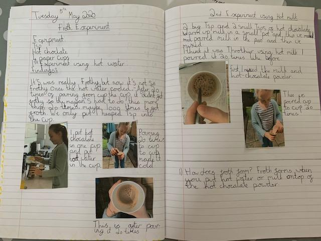 Sophie S's Froth Investigation!