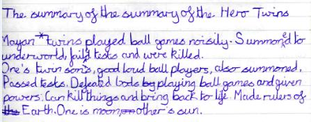 50 word Hero Twin summary by James,