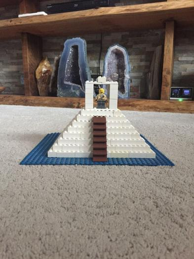 Ewan made a Maya Temple out of Lego!