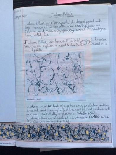 Elisabeth's Jackson Pollock research